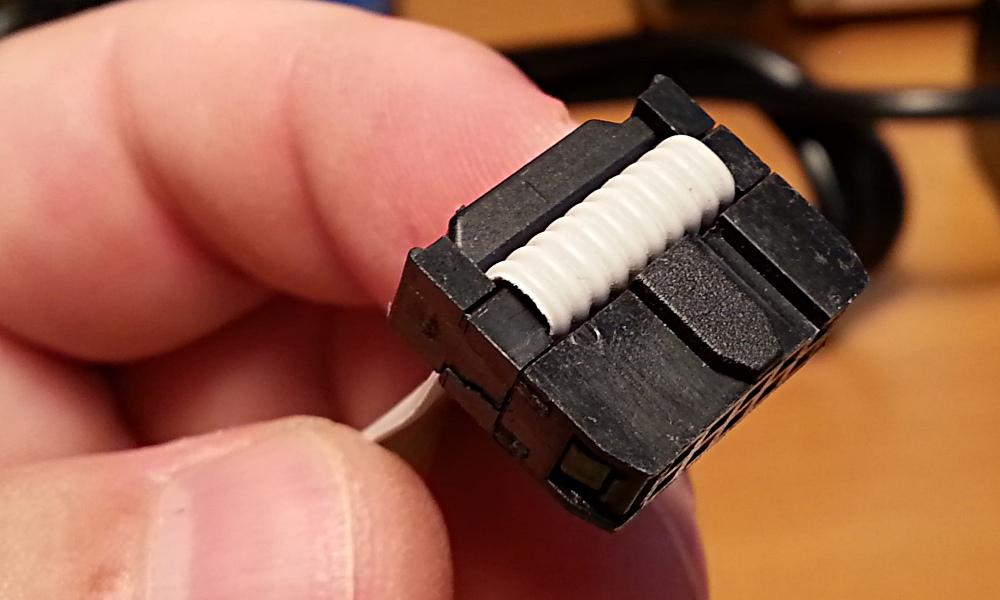 Conector completamente instalado.