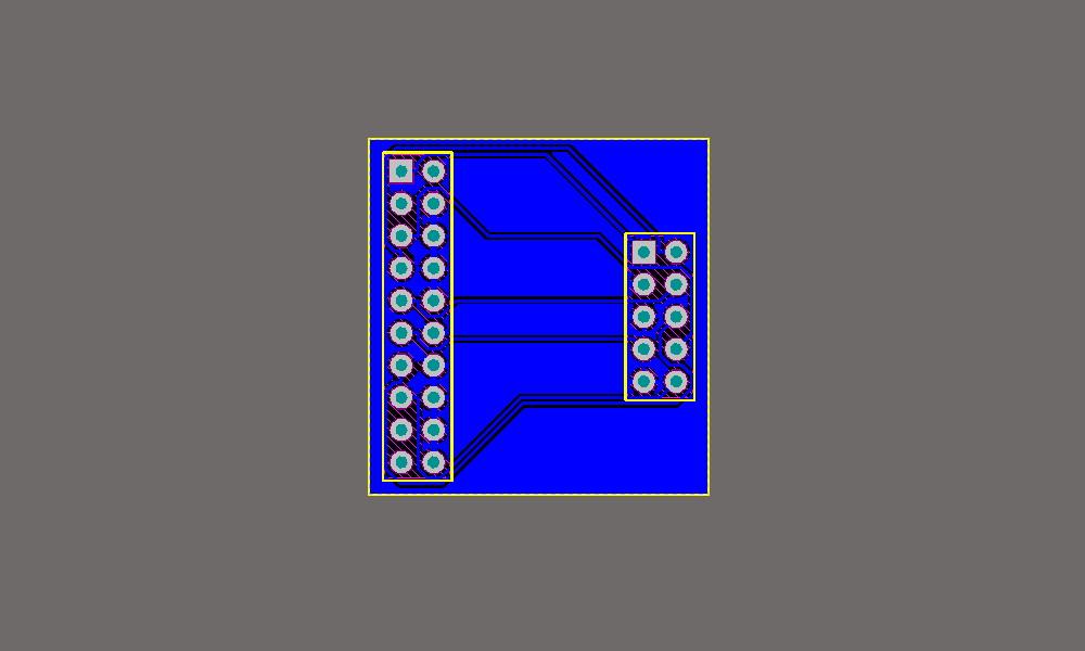 Vista de la PCB en Altium.
