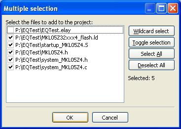 Selección de archivos.