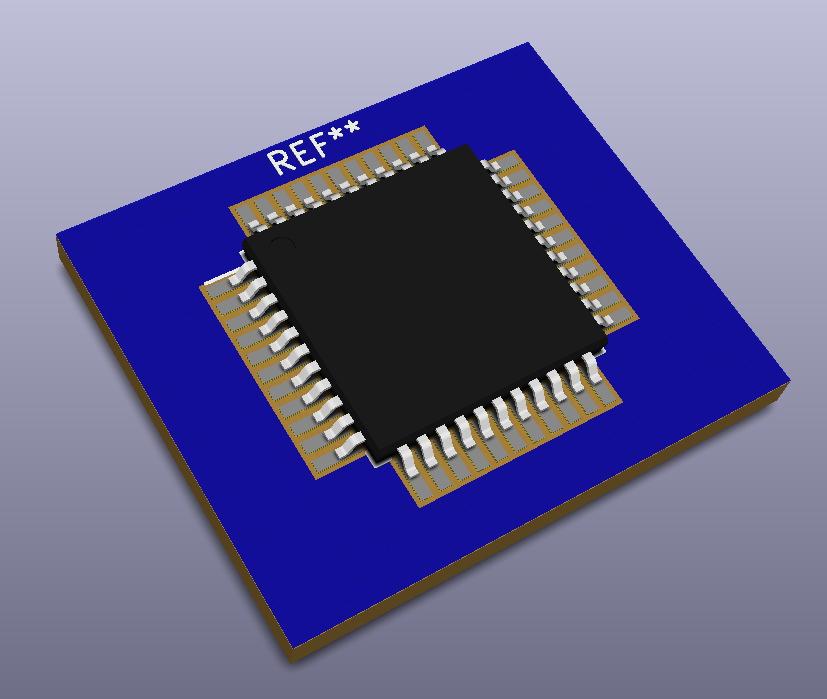 Modelo 3D QFP80P1200X1200X120-44.