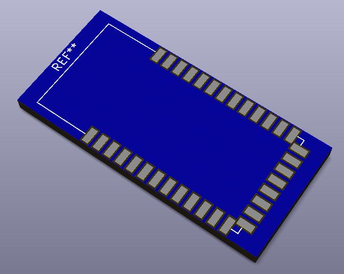 HC-06 vista en 3D.