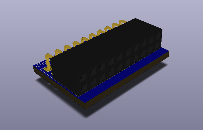 2x10x2.54-Pin-Header-F-TH-H modelo 3D.