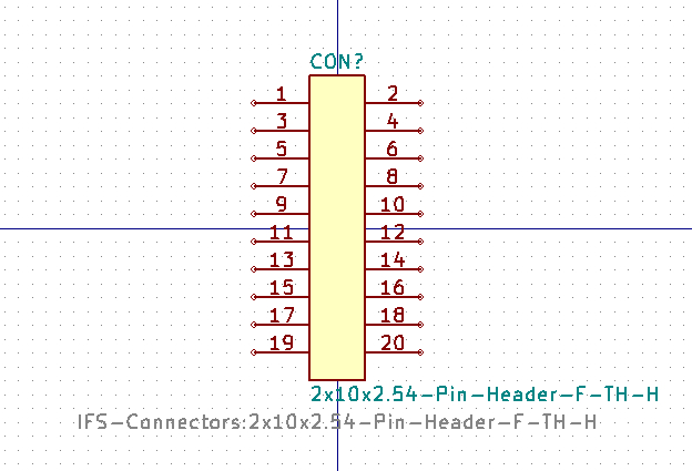 2x10x2.54-Pin-Header-F-TH-H símbolo de esquema.