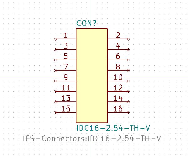 IDC16-2.54-TH-V símbolo de esquema.