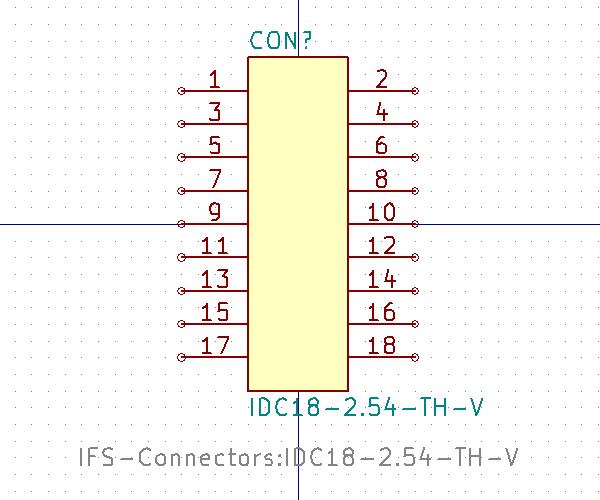 IDC18-2.54-TH-V símbolo de esquema.