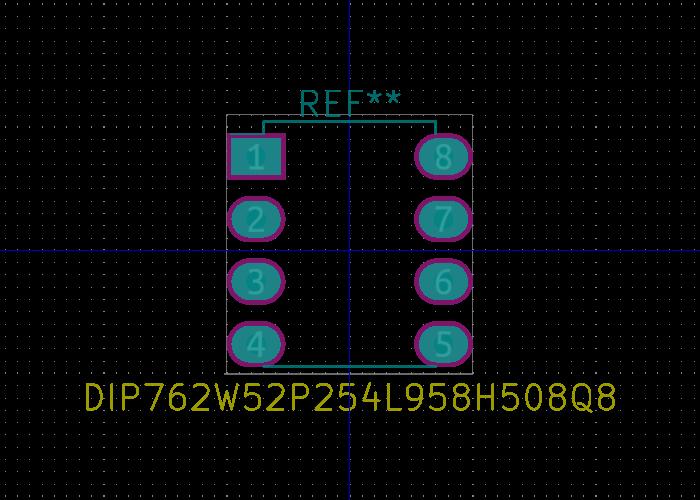 DIP762W52P254L958H508Q8 huella.