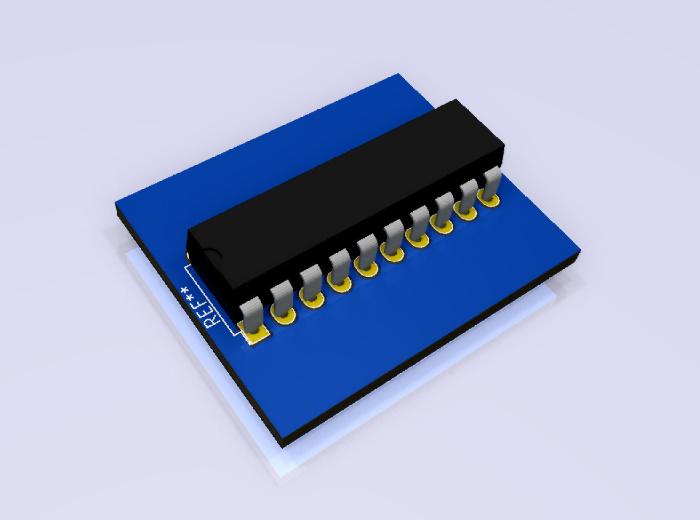 MSP430G2553IN20 modelo 3D.