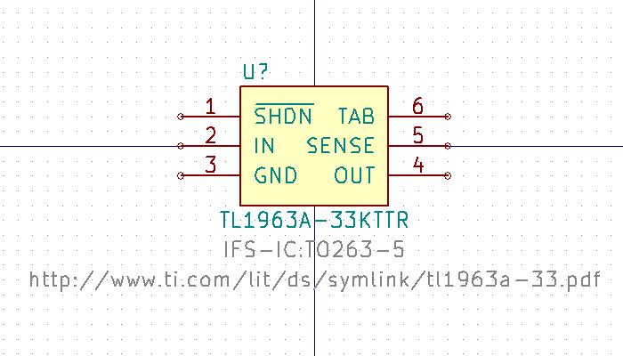 TL1963A-33KTT Símbolo de esquema.