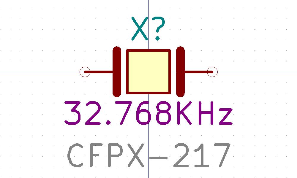 CFPX-217. Símbolo de Eeschema.