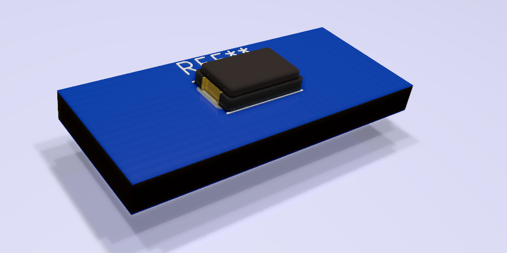 XTALDFN50X32X12N. Modelo 3D.