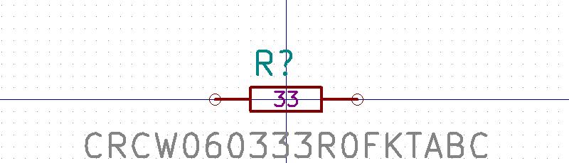 CRCW060333R0FKTABC Símbolo de Eeschema.