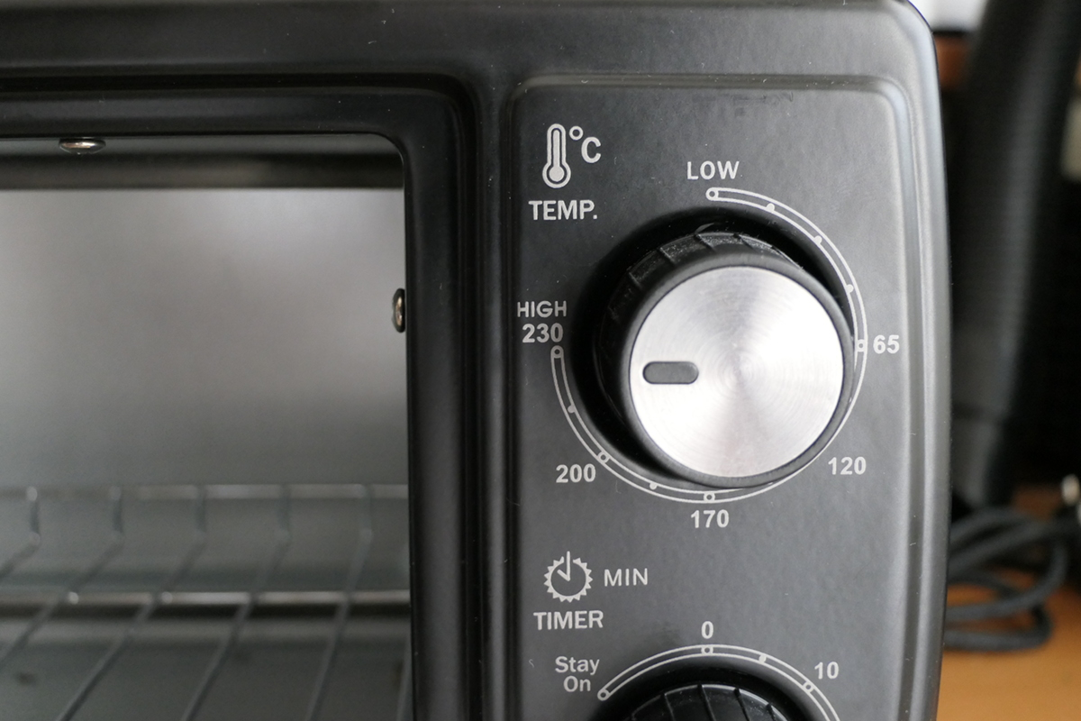 Horno. Selector de temperatura.