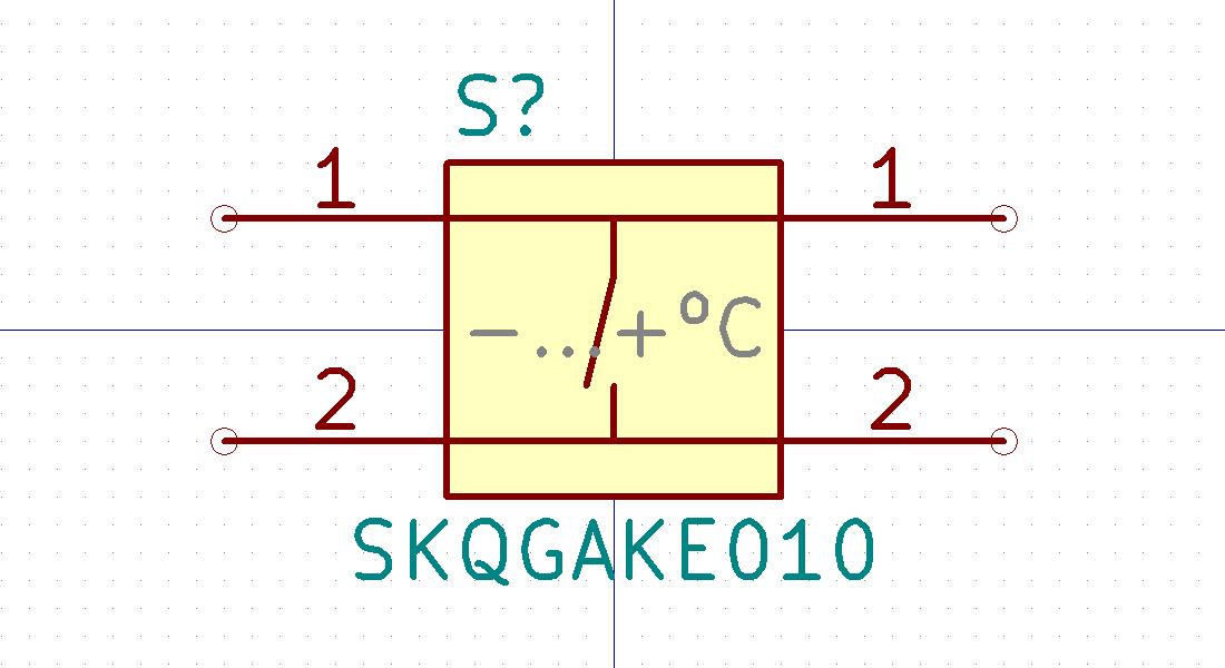 SKQGAKE010 Símbolo de Eeschema