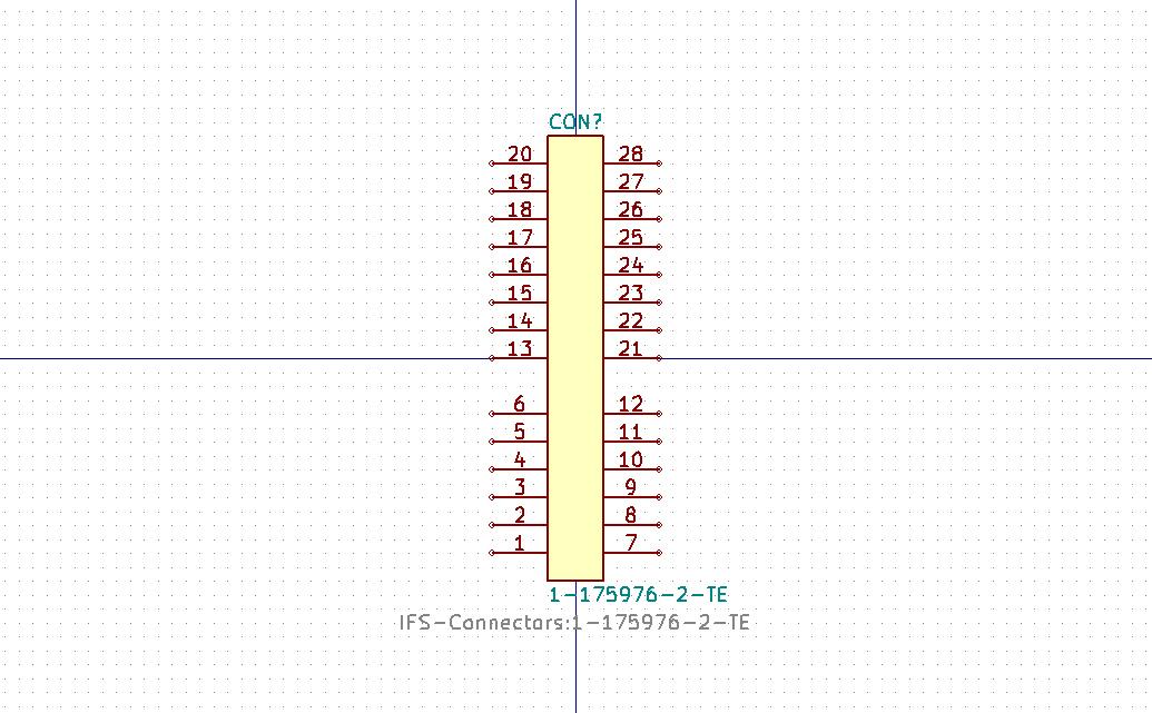 1-175976-2 Símbolo de Eeschema