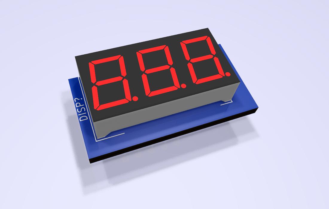 3x7SEGMENT-04x08-Red Modelo 3D