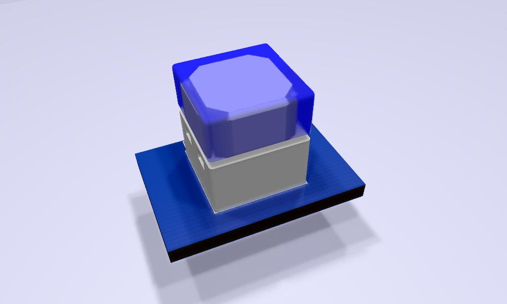 B3W-900x-xx1x-3D Modelo 3D azul