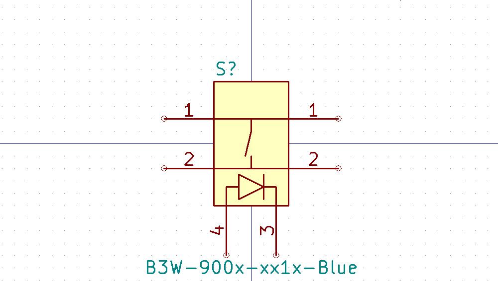 B3W-900x-xx1x Símbolo de Eeschema