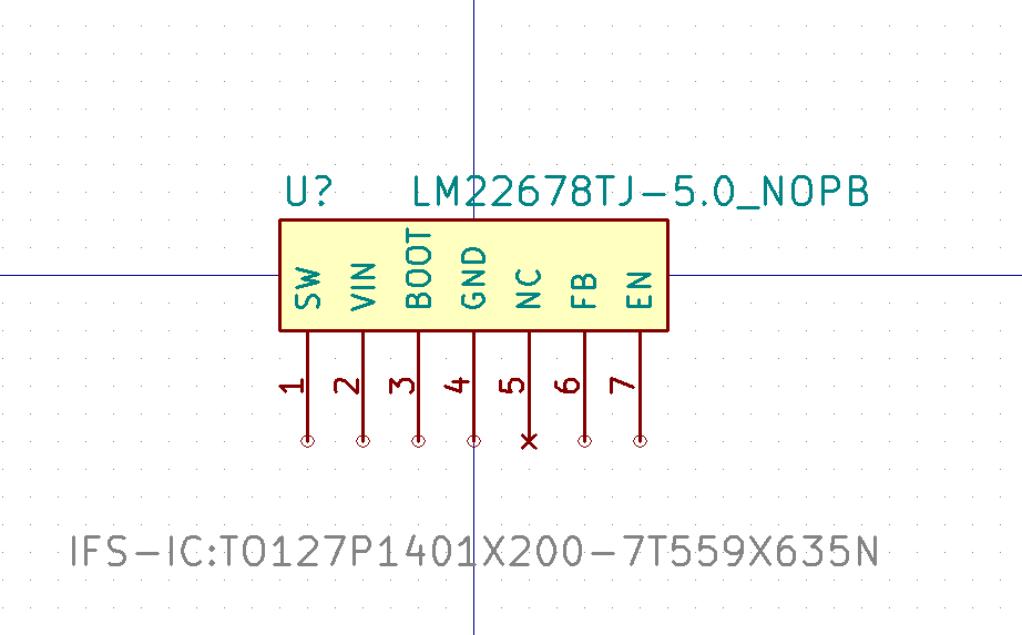 LM22678TJ-5.0_NOPB Símbolo de Eeschema