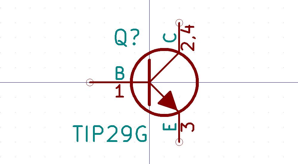 TIP29 Símbolo de Eeschema