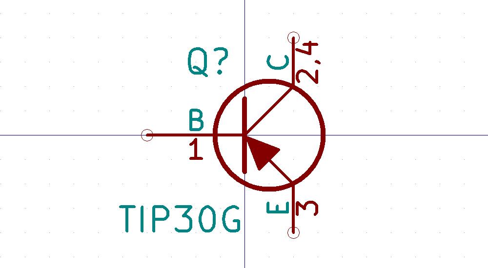 TIP30 Símbolo de Eeschema