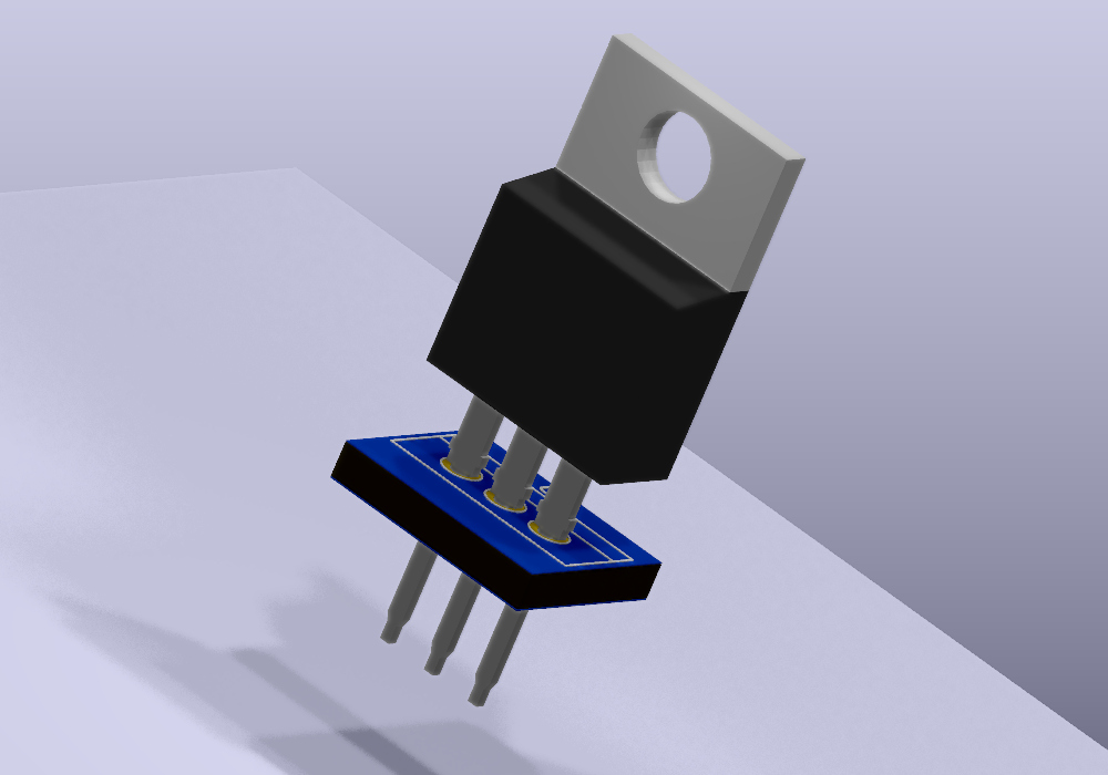 TO220-3 Modelo 3D