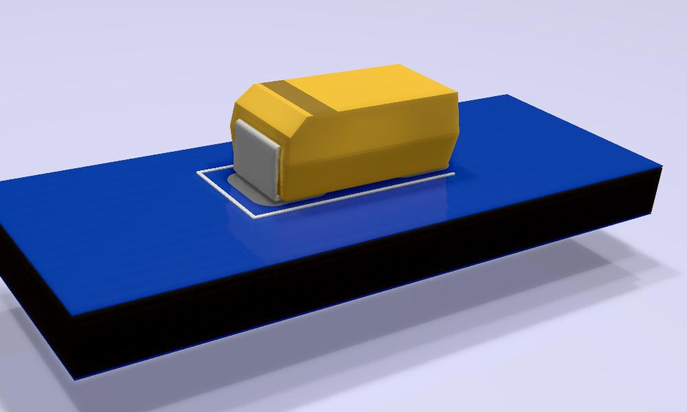 T491C226K016AT Modelo 3D.